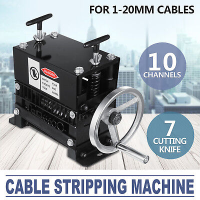 Manual Electric Wire Stripping Machine Recycle Tool Ship Portable Pop 1.5-38mm