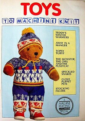 A Machine Knitting Monthly Special - TOYS TO MACHINE KNIT - VGC & Free Post