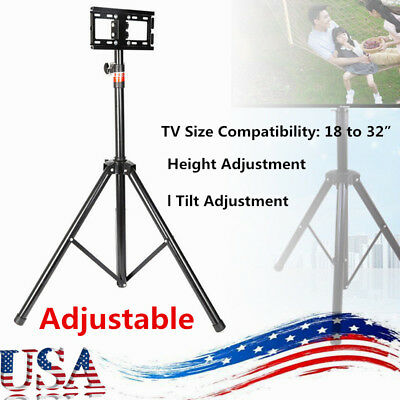 """Adjustable Tripod TV Stand-Television LCD Flat Panel Monitor Mount (up to 32"""")"""