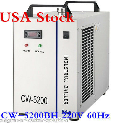 USA S&A 220V 60hz CW-5200BH Water Chiller for 8KW Spindle / Welding / Laser Tube