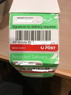AUSPOST Australia POST Receipted Signature on Delivery Tracking Label