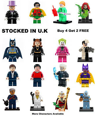 Batman TV Minifigure Lego & Custom DC Riddler Catwoman Freeze Joker Mini Figure