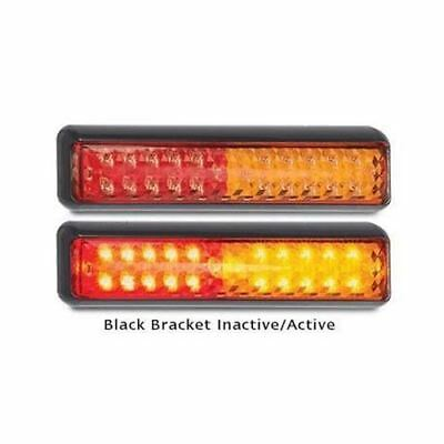 LED Autolamps 200BSTIM 12-24 Volt Black Bracket Stop / Tail and Indicator Combin