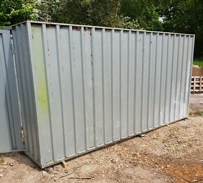 Flat pack 4m x 2m x 2m site container temporary demountable tool store shipping