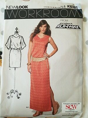 New Look K6181 Workroom Dress Sewing Pattern Project Runway Size 8