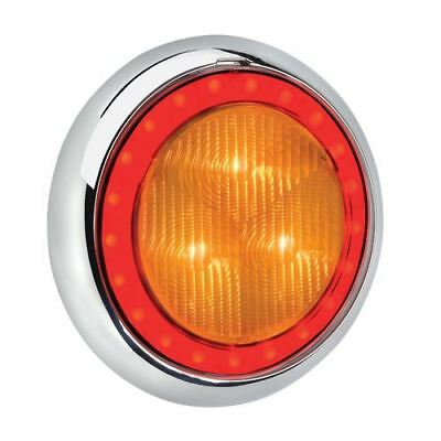 94340C Narva 9-33 Volt L.E.D Rear Direction Indicator Lamp (Amber) with Red L.E.