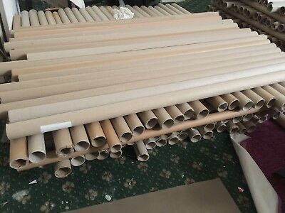20 Cardboard Fabric Packaging Tubes Mailing Posting- Bulk Wholesale Trade