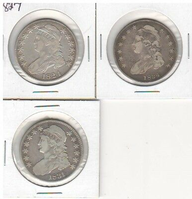 Group Lot of 3 Capped Bust Half Dollars #3
