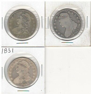 Group Lot of 3 Capped Bust Half Dollars #1