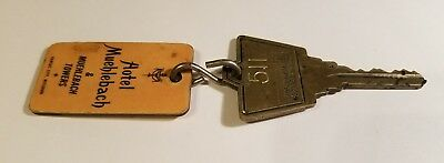 Hotel Muehlebach Towers Key Fob Tag Badge Kansas City MO Room 511 Vintage