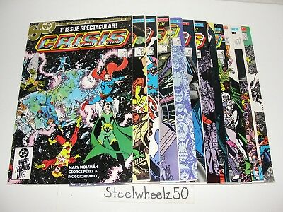 Crisis On Infinite Earths #1-12 Comic Lot DC 1985 COMPLETE Death Flash Supergirl