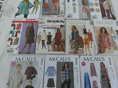 SIMPLICITY PLUS Size Sewing Patterns Women\'s Clothing Size 16 to 32 ...