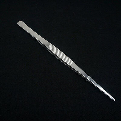 25cm Length SS Medical Straight Tip Smooth Dressing Forceps Tweezers Labware