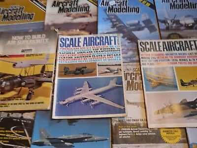 Vintage LOT of 11 1969-73 Scale Aircraft modelling & Modeler Magazines