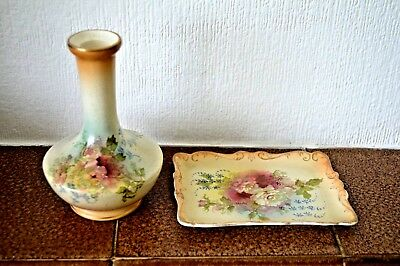 Royal Crown Devon small vase and trinket tray