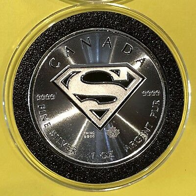 2016 Canada Superman Collectible Coin 1 Troy Oz .9999 Fine Silver Round Medal