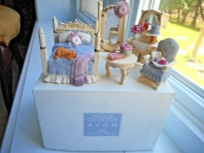 Avon Collectibles Country Cottage Bedroom Miniature Doll House Furniture