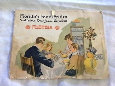 Florida Food Fruits, Citrus Exchange 1922 Booklet, Great Graphics