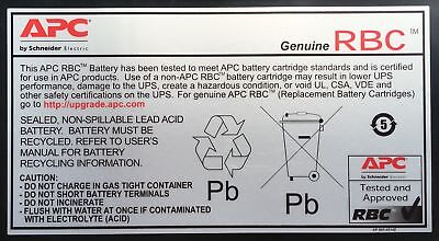 NEW APC Replacement Battery Cartridge #117 Sealed Lead Acid (VRLA) 120V recharge