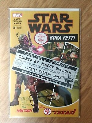 Star Wars #1 Heroes And Fantasies Variant Signed By Jeremy Bulloch Coa Marvel