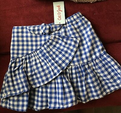 Cat & Jack NWT Skirt Size 6/6x Gingham, Fully Lined
