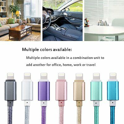 8 Pin USB Braided Sync Charger Lead Data Cable For Apple Iphone 7 6 6s Plus Ipad