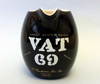 Vintage Wade Regicor Vat 69 Finest Scotch Whisky Pub / Bar Water Jug / Pitcher