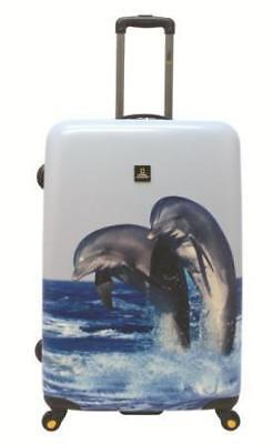 NATIONAL GEOGRAPHIC Dolphin Hard Side Luggage 2pc Set FREE POSTAGE BNWT