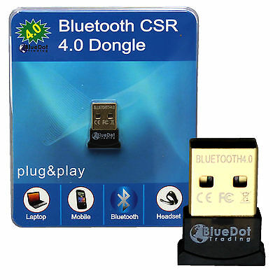 Mini Bluetooth CSR 4.0 USB 2.0 CSR4.0 Dongle Adapter For Win 8 7 XP Laptop PC