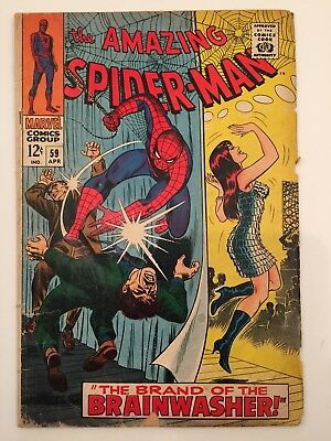 AMAZING SPIDER-MAN #59 BRAND OF THE BRAINWASHER &1st MARY JANE COVER!! LOWER GRD