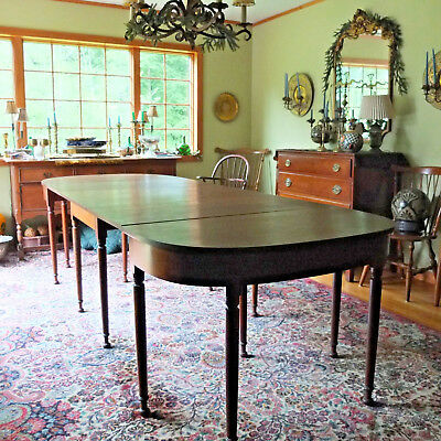 Antique Stickley Cherry Valley Dining Table Drop Leaf W Demilune Console RARE