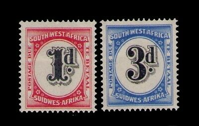 South West Africa Postage Due stamps Sc # J91-2 MH