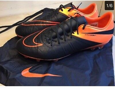 7959657fdc93 Nike Hypervenom Phinish Ii Fg Leather Soccer Cleats Sz 8 New (759980 008)
