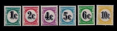 South West Africa Postage Due stamps Numerals Sc # J96-101 Cpl.MLH set