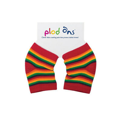 Babies Plod Ons Clever Little Crawling Pads Knee Protectors - Rainbow Stripe