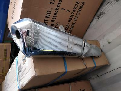 OEM BMW R1200 RT 13-18 Rear Muffler, Chrome Plated (Used, Free of damage)
