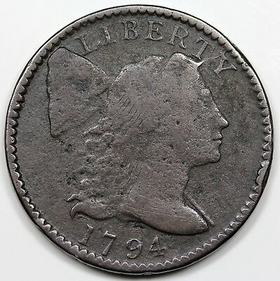 1794 Liberty Cap Large Cent, Head of '95, F detail