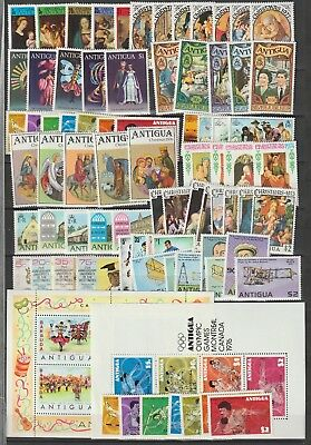 Antigua collection lot MNH stamps 2 sheets