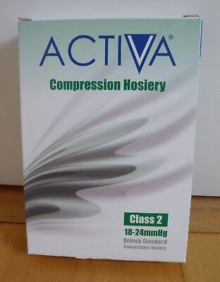 Activa Compression Hosiery Small Sand, Class 2, Thigh Length, Open Toe 18-24mmHg
