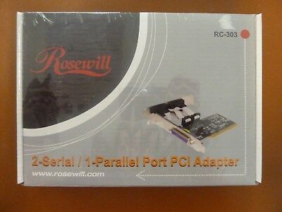 Rosewill RC303 Dual Serial & Single Parallel Port PCI Card