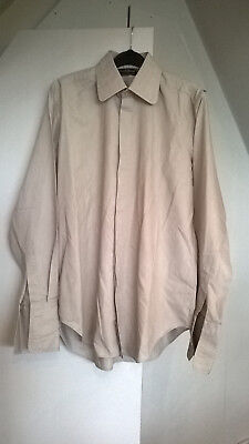 vintage 70s round collar M & S mens evening shirt 15 retro double cuff
