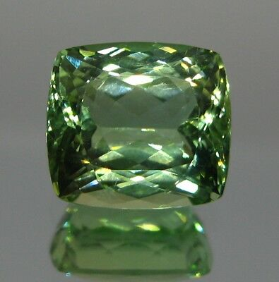 10.ct Green colour Cushion  Cut  Kunzite (hiddenite) & Amzing Color from AFGH