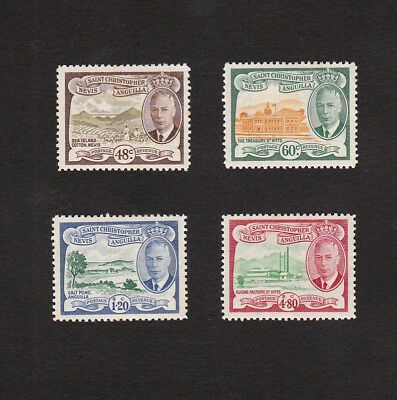 St Christopher Nevis Anguilla 1952 High Value Mint Kgvi Stamps To $4.80