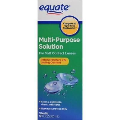 Equate Sterile Multi-Purpose Contact Solution, 12 Oz, Exp 09/19