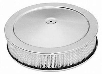 Racing Power R8000 Chrome 14in x 3in Muscle Car Style Air Cleaner Set - Paper
