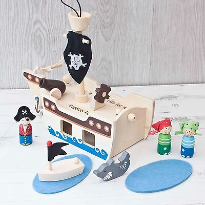 Personalised Pirate Play set, Pirate play pice 10 Piece Play Set