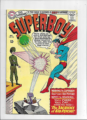 Superboy #125/Silver Age DC Comic Book/1st Kid Psycho/VF