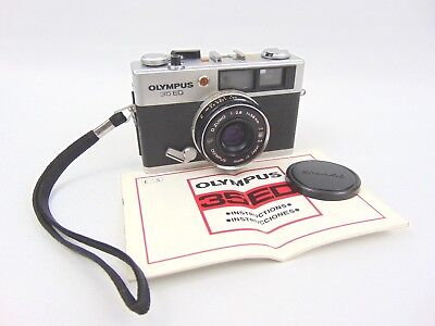 Olympus 35 ED Automatic Rangefinder Camera Has f/2.8 Lens & cap - instructions