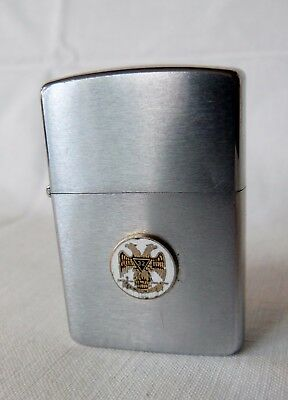 Vintage 32 Regiment Army Coat of Arms Eagle Military Zippo K - IV