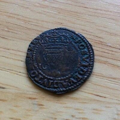 1601 Queen Elizabeth Ist Ireland Hammered Penny coin